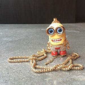 Betsey Johnson Chunky Minion Necklace Bling